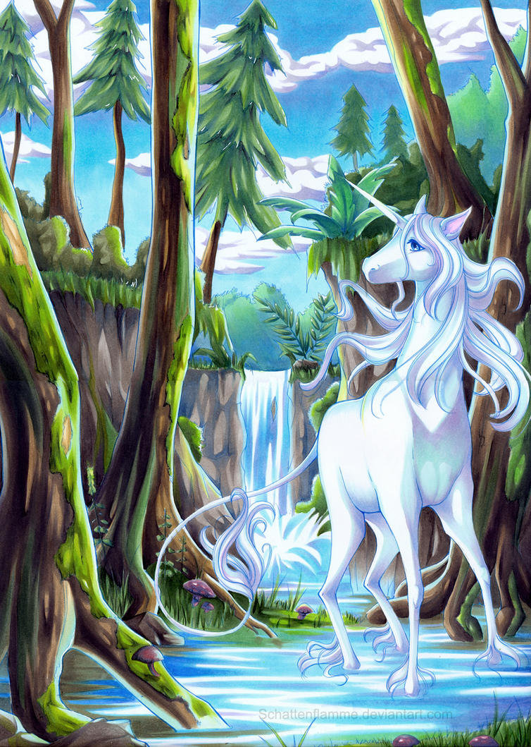 The last unicorn by ElbenherzArt