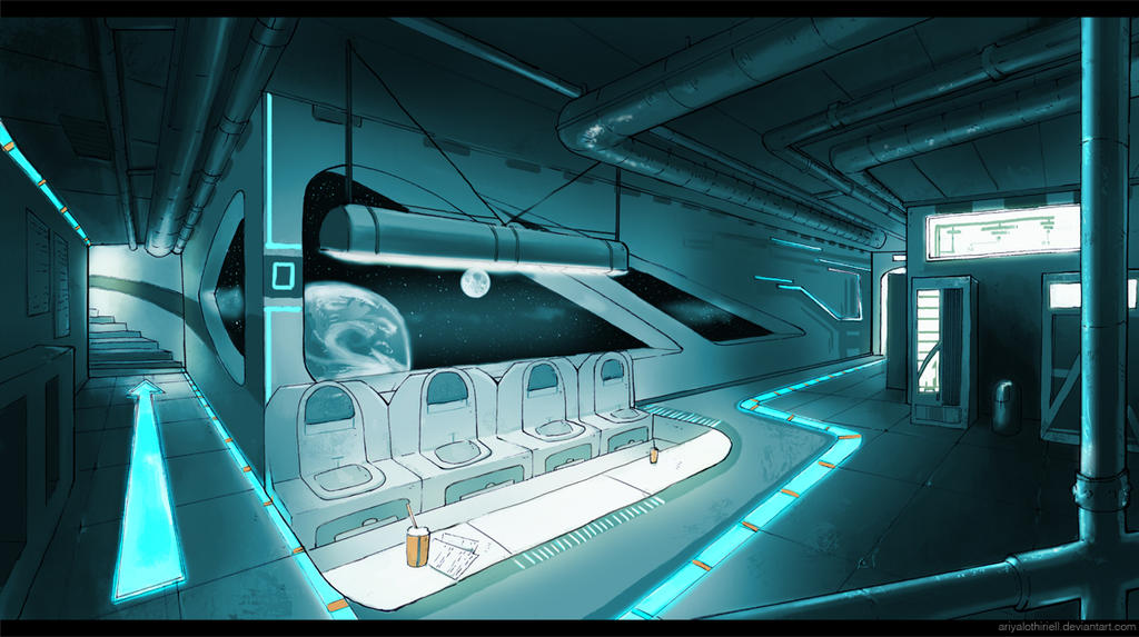 sci fi interior by elbenherzart on deviantart. Black Bedroom Furniture Sets. Home Design Ideas