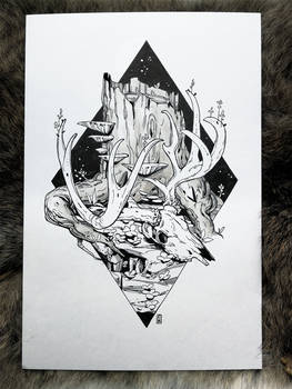 Inktober 01 - Death and Life