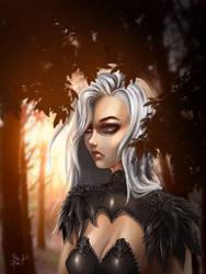 Aloine Portrait by SkinOfAlien