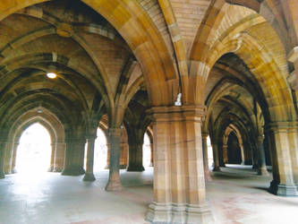 The Cloisters at Glasgow University by MontyMouse