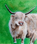 Moo-ve World Water Colour Month Day 12 by MontyMouse