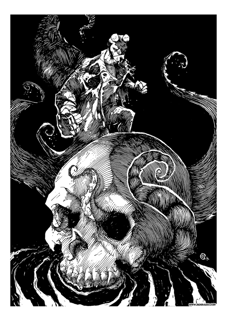 Hellboy commission 2 (definitive) by BenBASSO