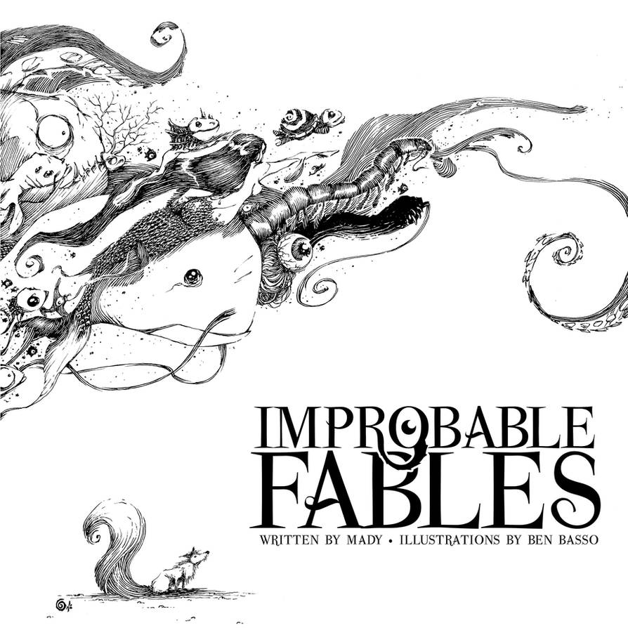 improbable.fables. cover.lineart by BenBASSO