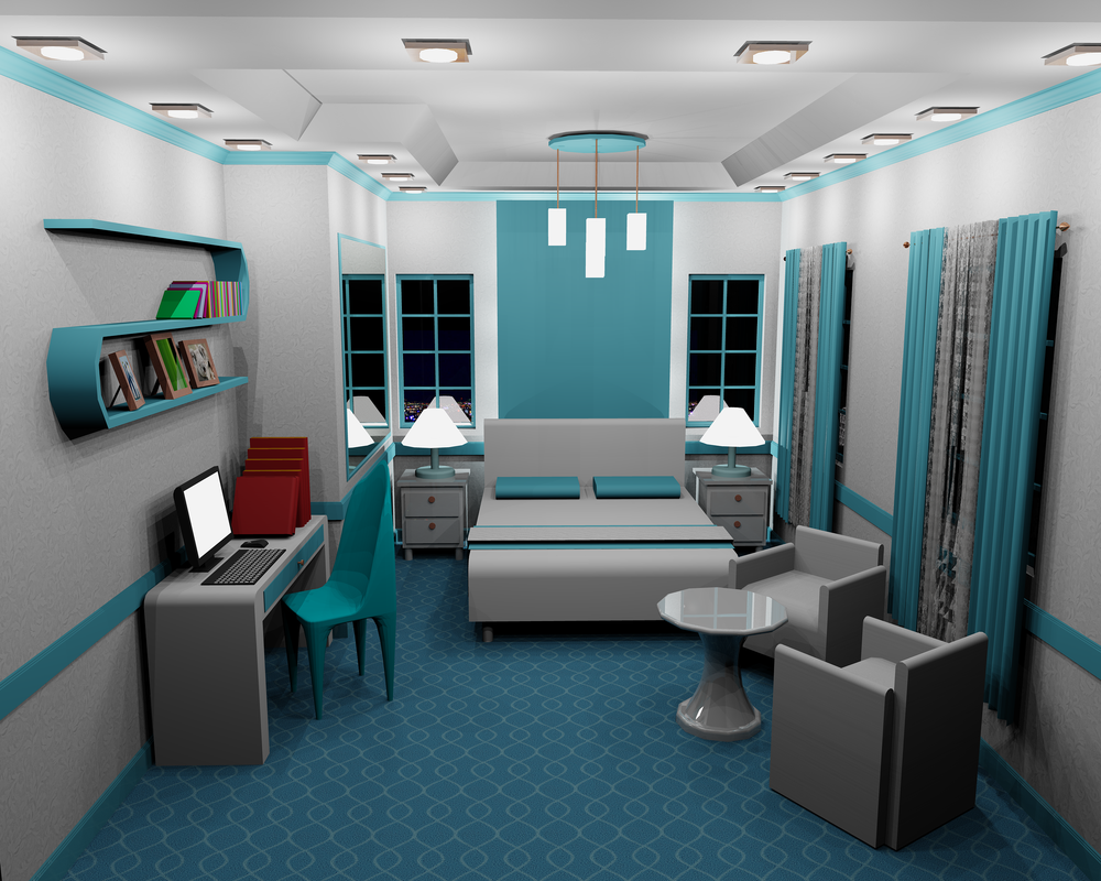 3D Interior design using AutoCAD by IamHulyeta on DeviantArt