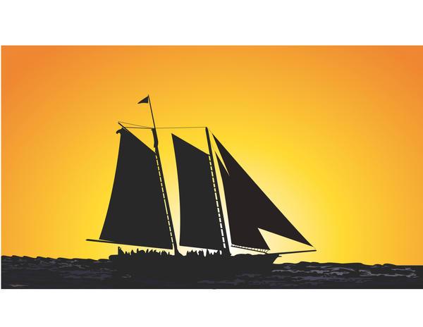 Sunset Sailing by Albatross101