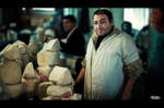 Cheese seller - Tbilisi Market by Blazko