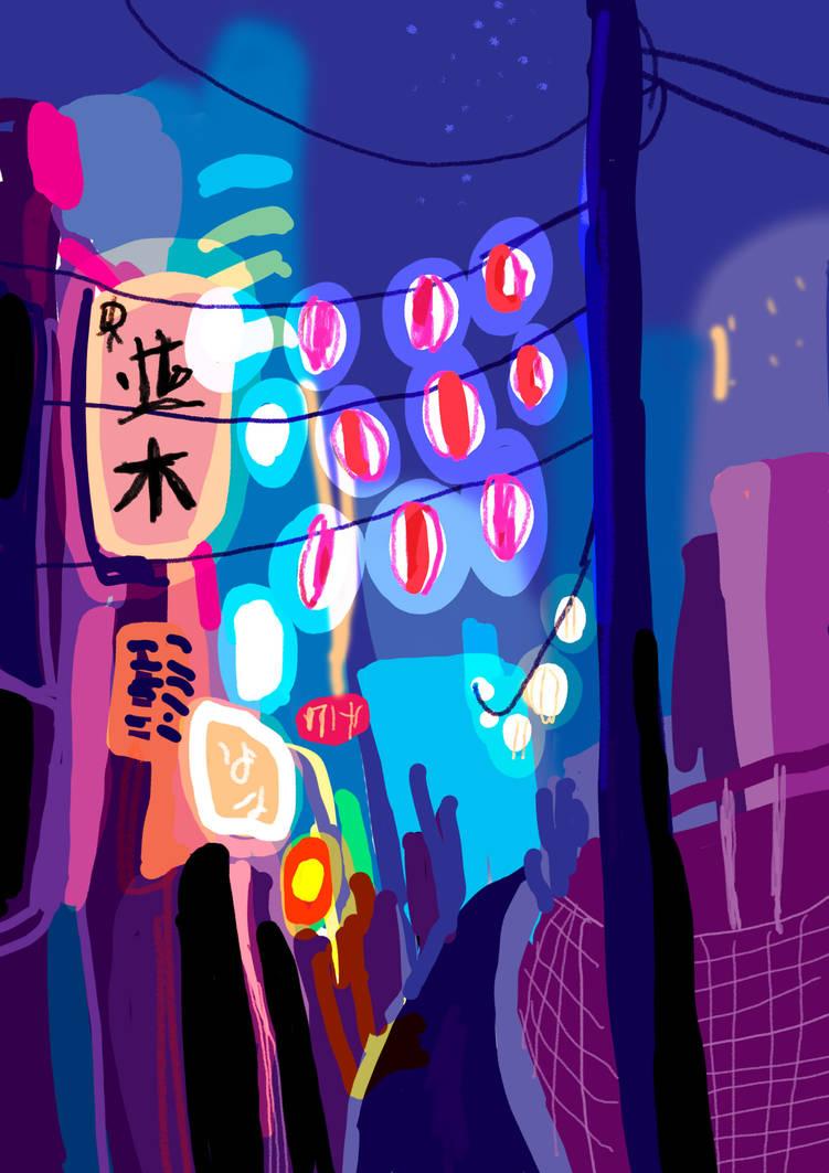 Tokyo street by KattyC