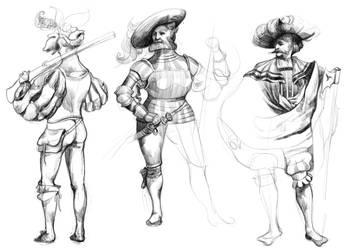 Knights Sketches by KattyC
