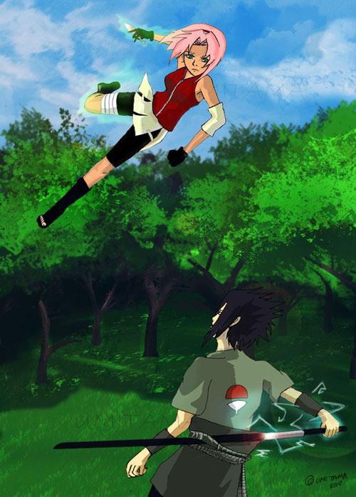 Sasuke vs sakura by umitama on deviantart sasuke vs sakura by umitama altavistaventures Gallery