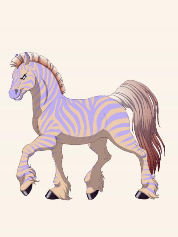 Caspian Peach made on fantasy horse maker by QuestionUnicorn