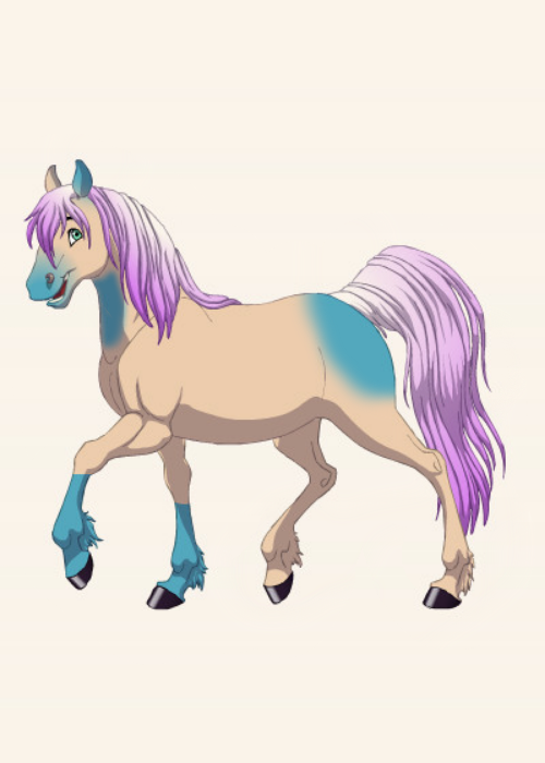 Angeloa Blue made on fantasy horse maker by QuestionUnicorn