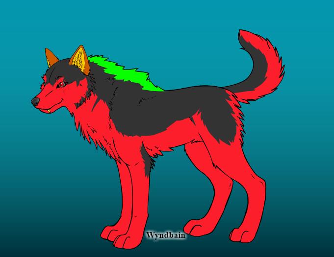 Firestripe made on wolf maker by QuestionUnicorn