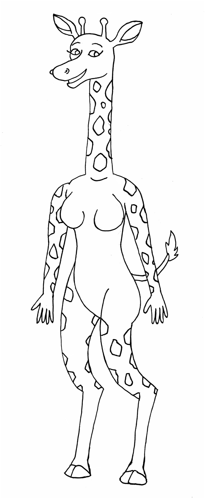 Giraffe girl with markings by QuestionUnicorn