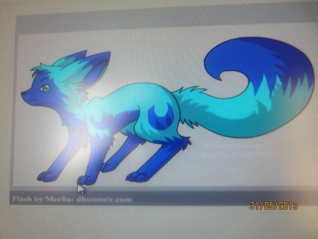 Blue Moon Fox by QuestionUnicorn