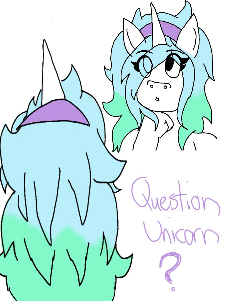 QuestionUnicorn new hairstyle by Pookachu14 by QuestionUnicorn