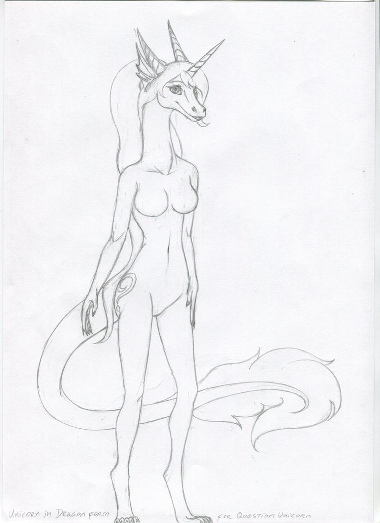 dragon sketch by VedranR by QuestionUnicorn