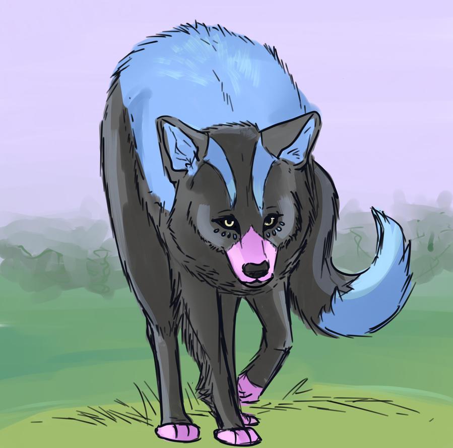 realistic wolf Luna Breeze by aikawarazu-desu by QuestionUnicorn