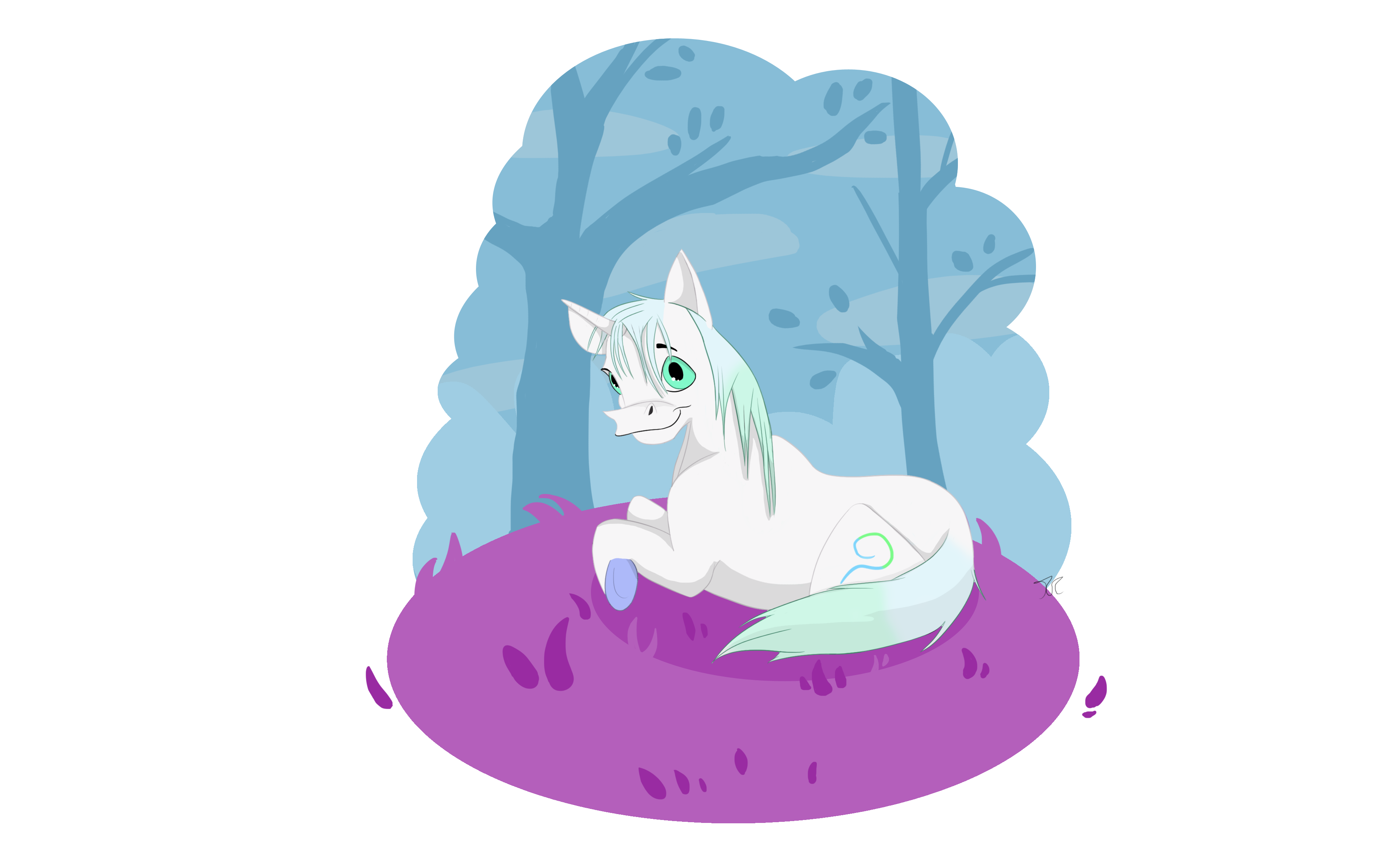 The Grass Is Purpler On My Side by Terriere by QuestionUnicorn