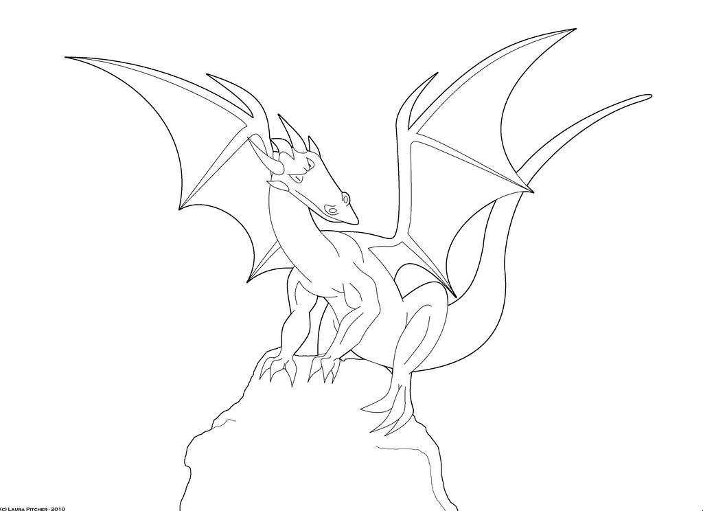 Line Drawing Dragon : Dragon line art by purapuss on deviantart
