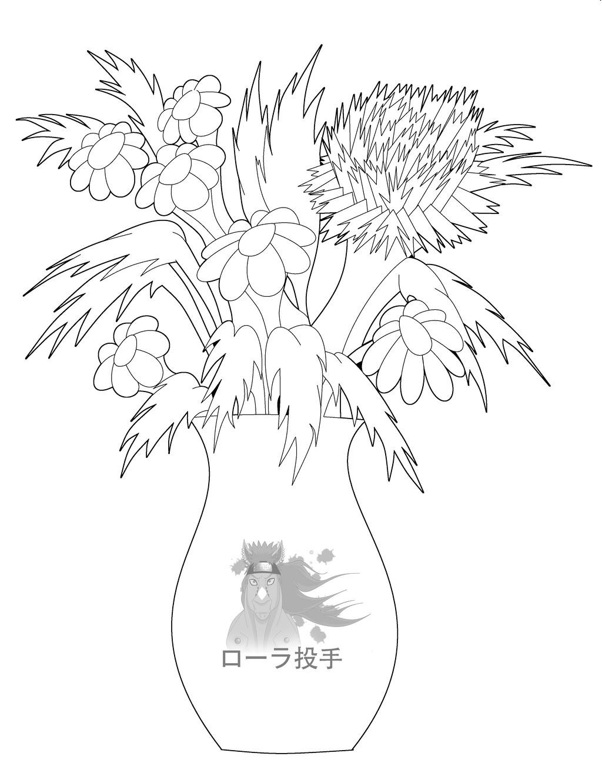 Line Drawing Flower Vase : Flowers in vase line art by purapuss on deviantart