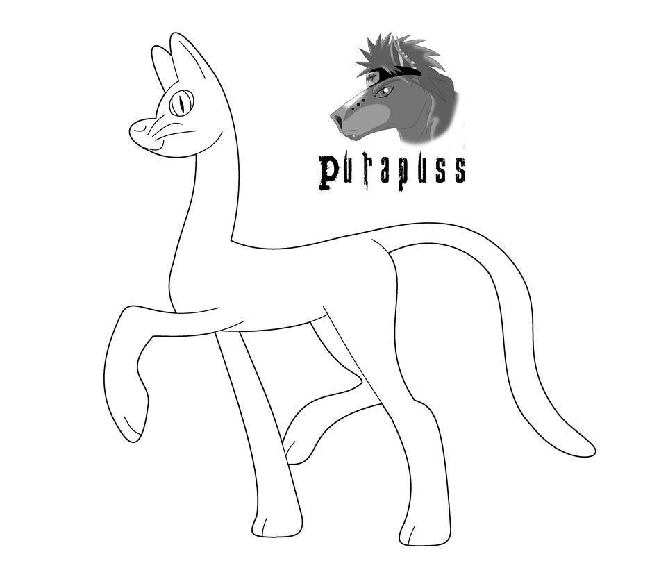 Line Drawing Llama : My little llama cat line art by purapuss on deviantart