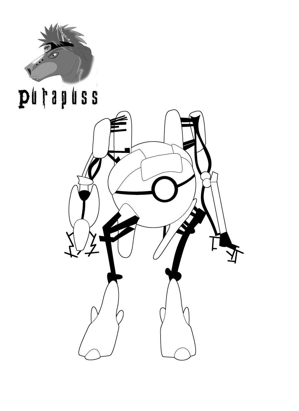 Line Drawing Robot : Robot line art by purapuss on deviantart