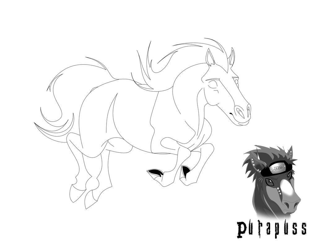 Horse Line Art 136 by purapuss