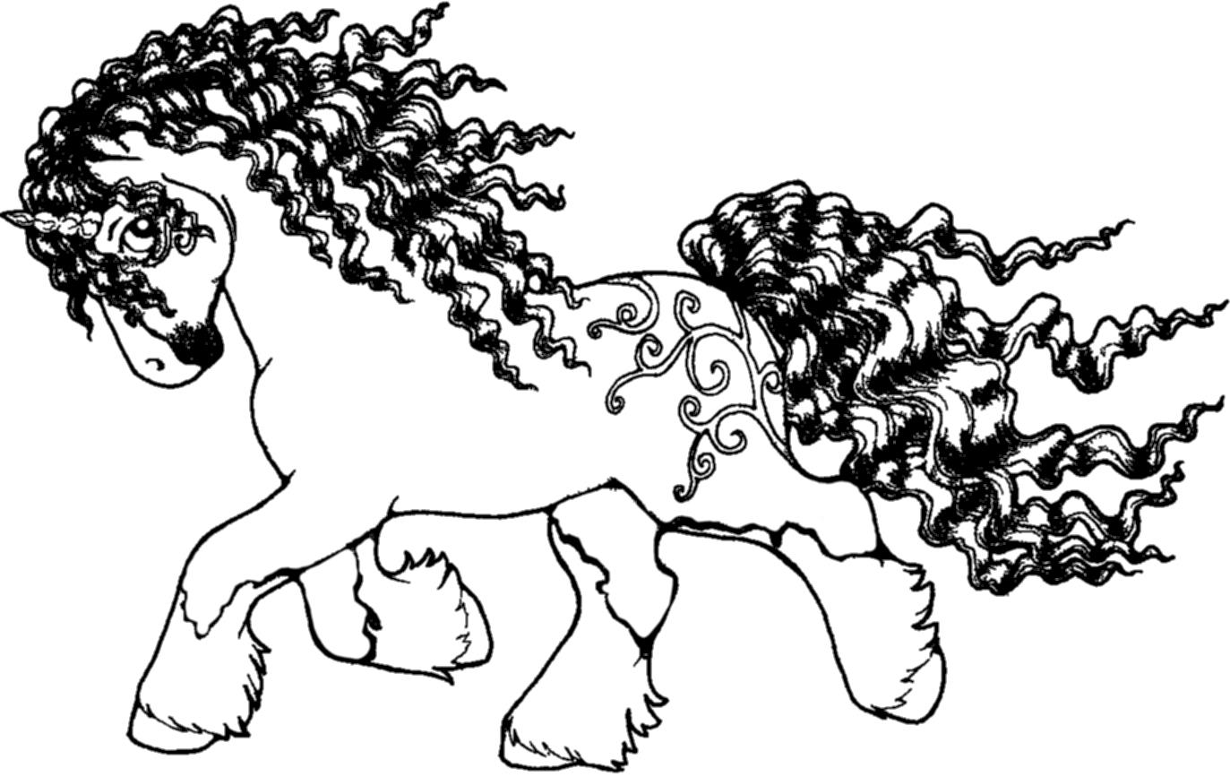 Line Drawing Unicorn : Unicorn pony line art by applehunter on deviantart