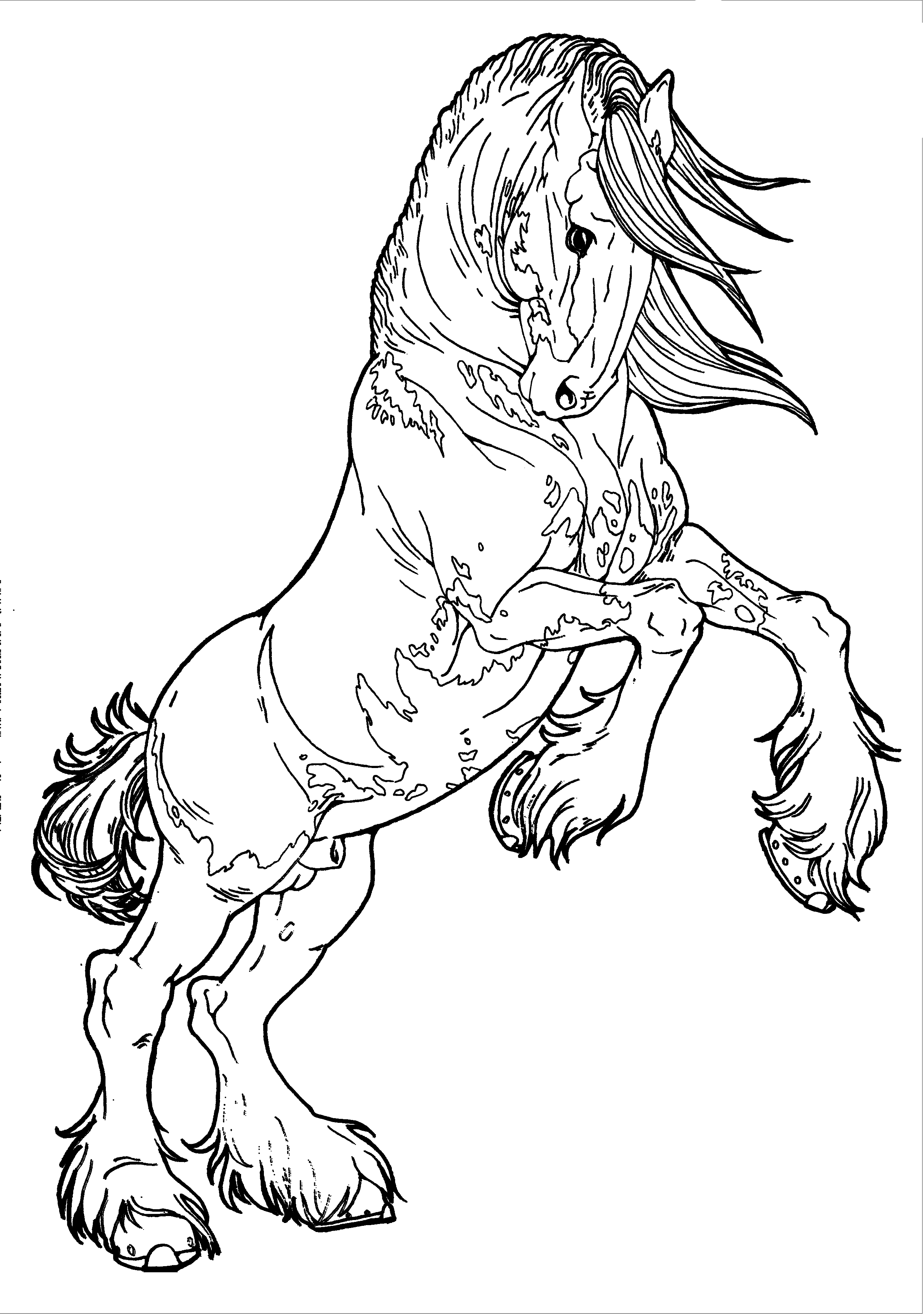 patterned clydesdale by applehunter on deviantart Quarter Horse Coloring Pages  Clydesdale Coloring Pages