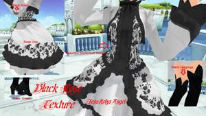 Texture Art Black Rose