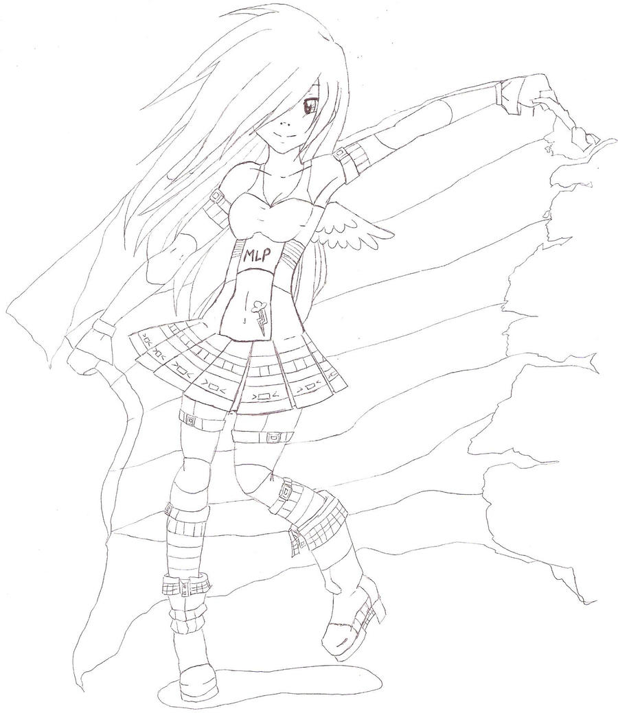 human rainbow dash coloring pages - photo#29