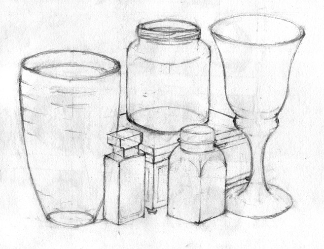 Line Drawing Still Life : Still life pencil drawing by carolin on deviantart