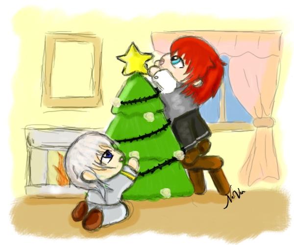 Mill y Vael Christmas by NevanRhaegar