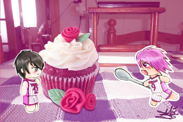 KnB Tatsuya Himuro Atsushi Murasakibara cupcake! by NevanRhaegar