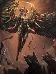 My Artwork: Demon-Angel: Abaddon by PhuThieu1989