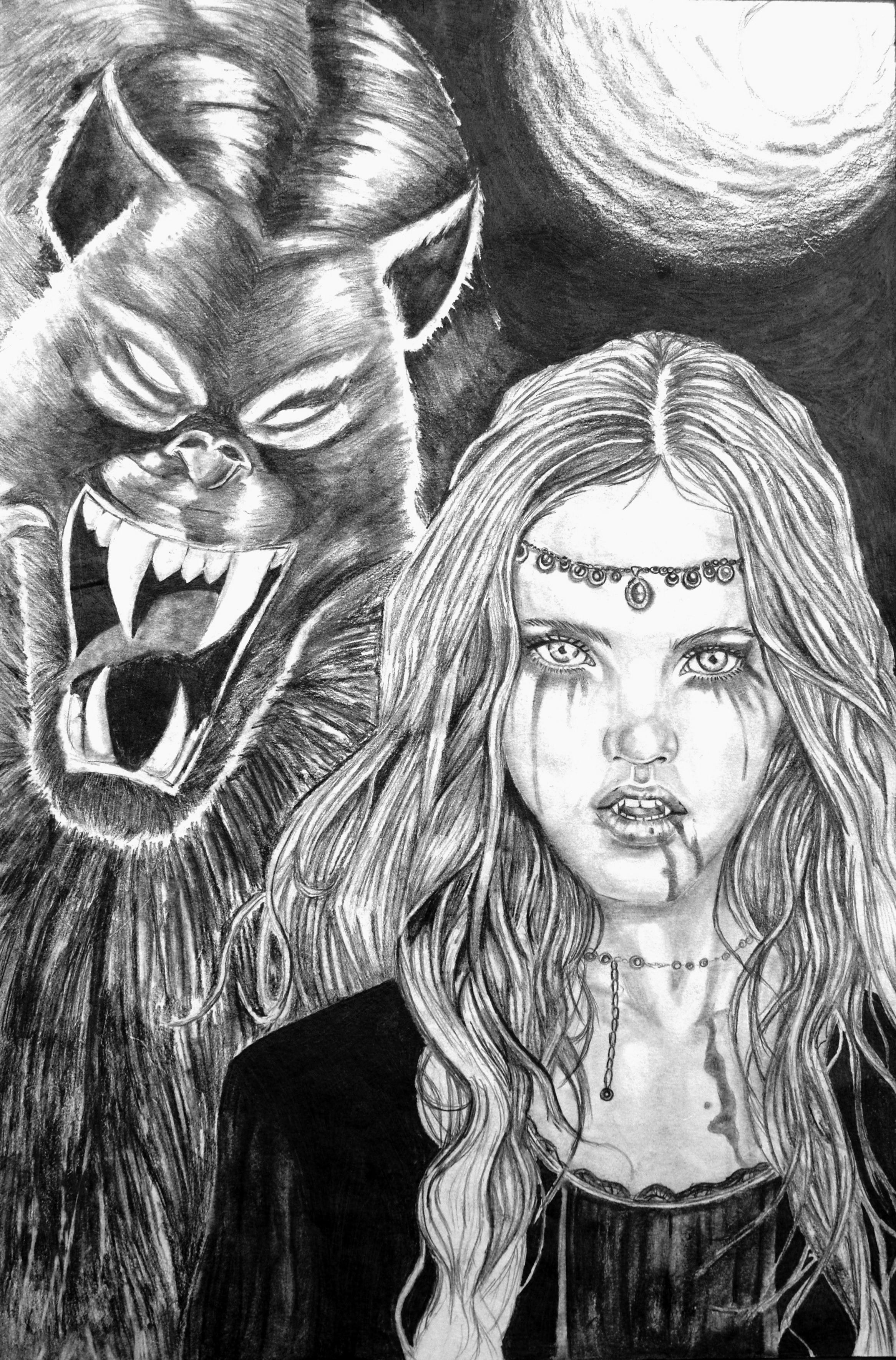 Vampire vs. Werewolf by Chain34 on DeviantArt