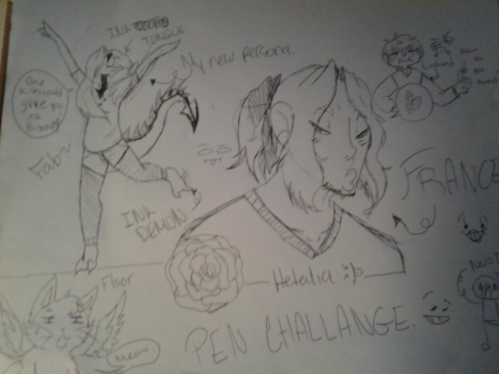 PEN CHALLENGE by darklolbunny
