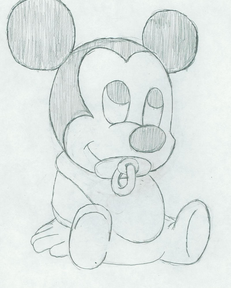 It is a picture of Adaptable Mickey Mouse Pencil Drawing