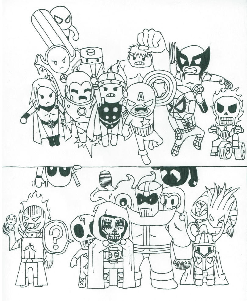 tokidoki characters colouring pages page marvel x tokidoki by tobiuchiha on deviantart