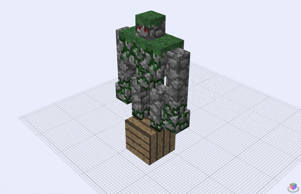 Minecraft Iron Golem Face 69365 | USBDATA