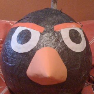 Angry birds Bomb Bird by xshadowxrayx