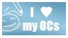 I love my OCs Stamp