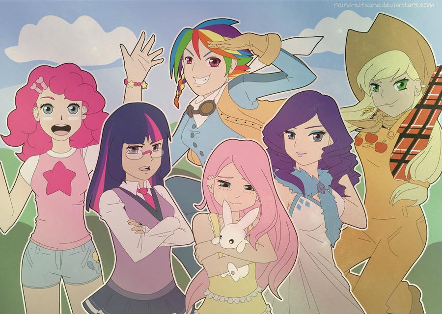MLP: Everypony by Reina-Kitsune