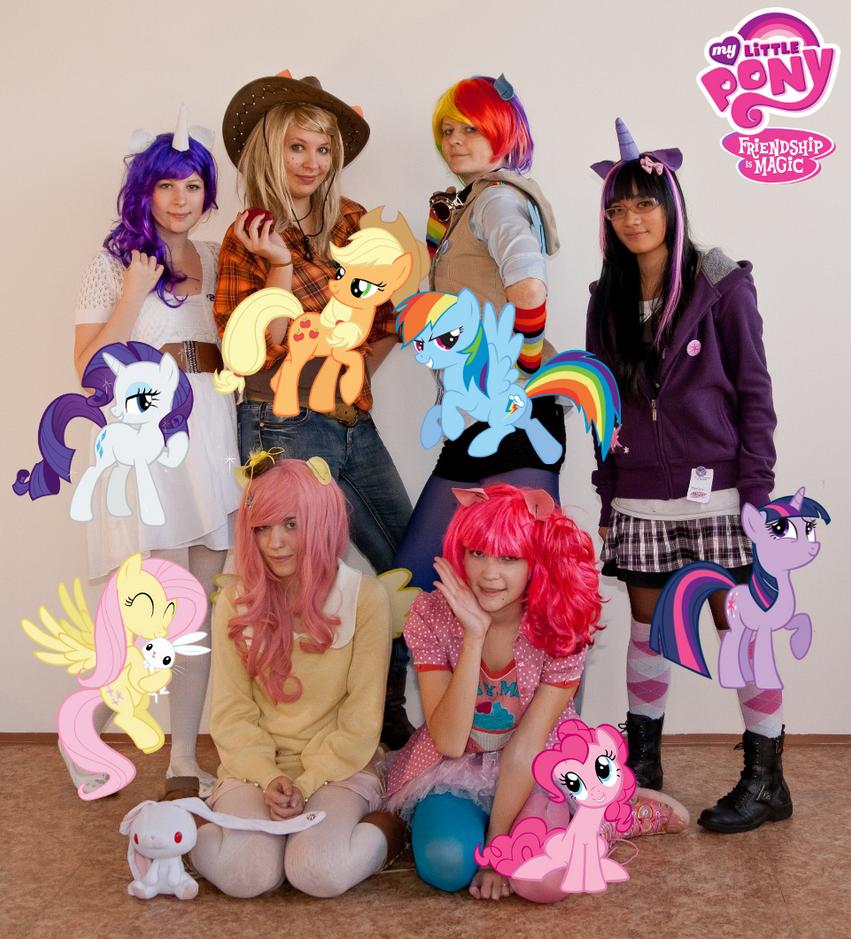 MLP: Mane 6 cosplay by Reina-Kitsune