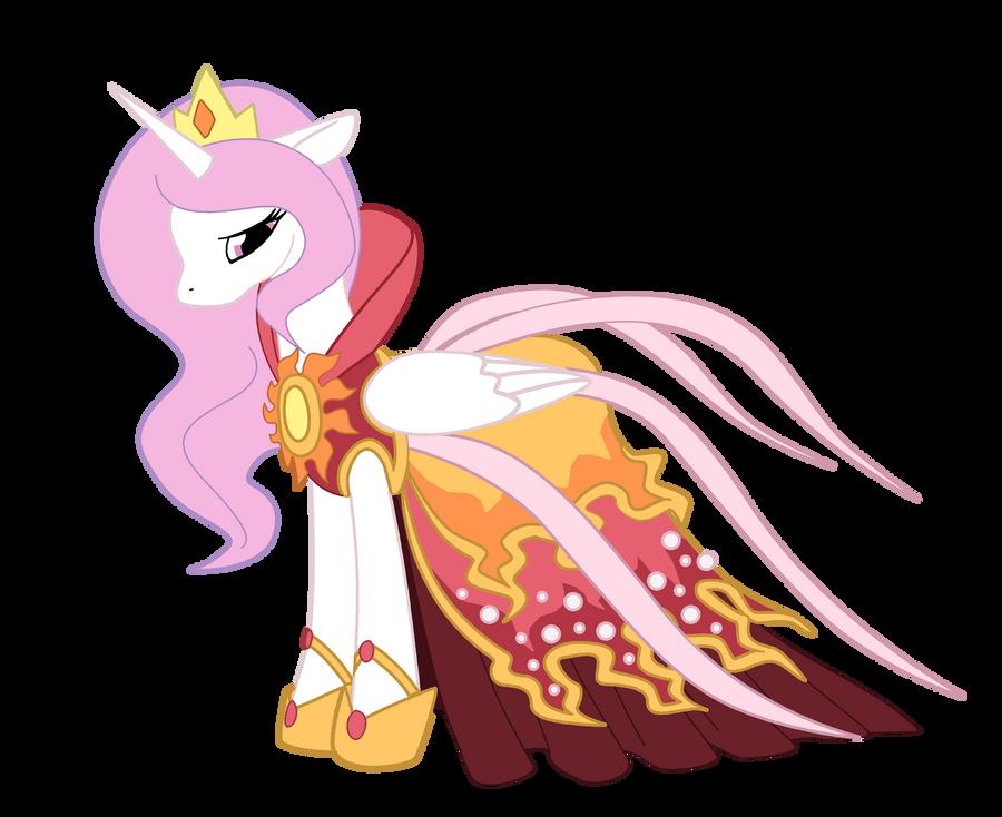 Young Celestia - Solar Gown by Reina-Kitsune