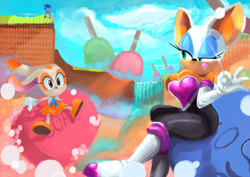 Wip 2 request painting by Sonic-Loveee