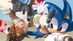 Sonic OVERWATCH crossover painting Done by Sonic-Loveee
