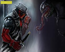 deadpool venom wip by Draconius666
