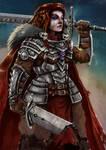 Badass warrior chick